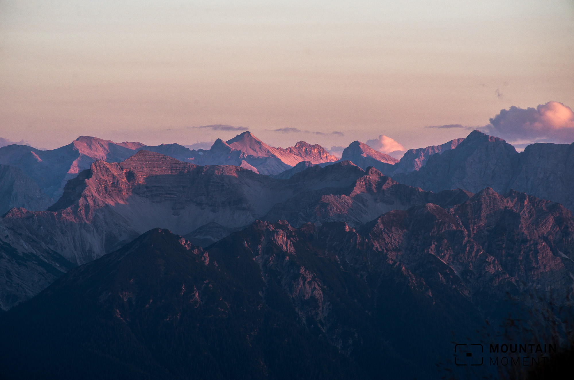 karwendel sonnenuntergang, karwendel sunset, mountains sunset, alpine sunset, bavaria, fotoworkshop münchen