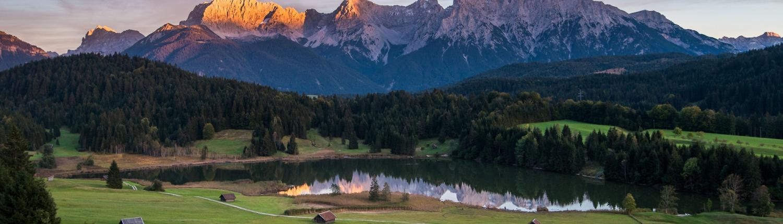 wallberg, fotospot bayern, fotospot bayerische alpen, geroldsee, wagenbrüchsee, fotospot bayern, fotospot deutschland, landschaftsfotografie, Sunset, sonnenuntergang karwendel, sonnenuntergang bayern, postkartenmotiv bayern