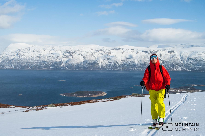 fjord, skitour lyngen, skitour lyngenalpen