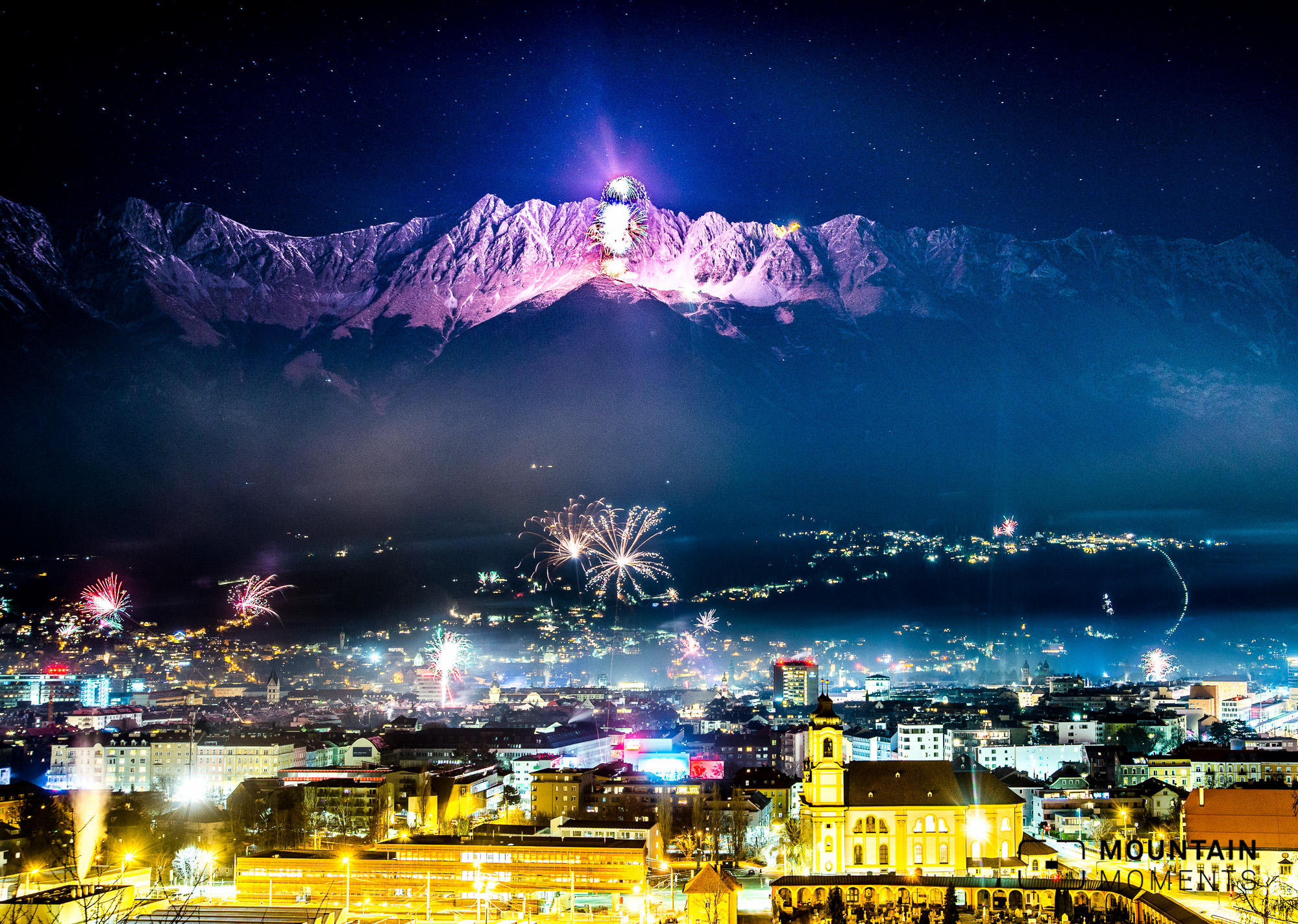 silvester, feuerwerk, innsbruck, firework, sylvester, new years eve-
