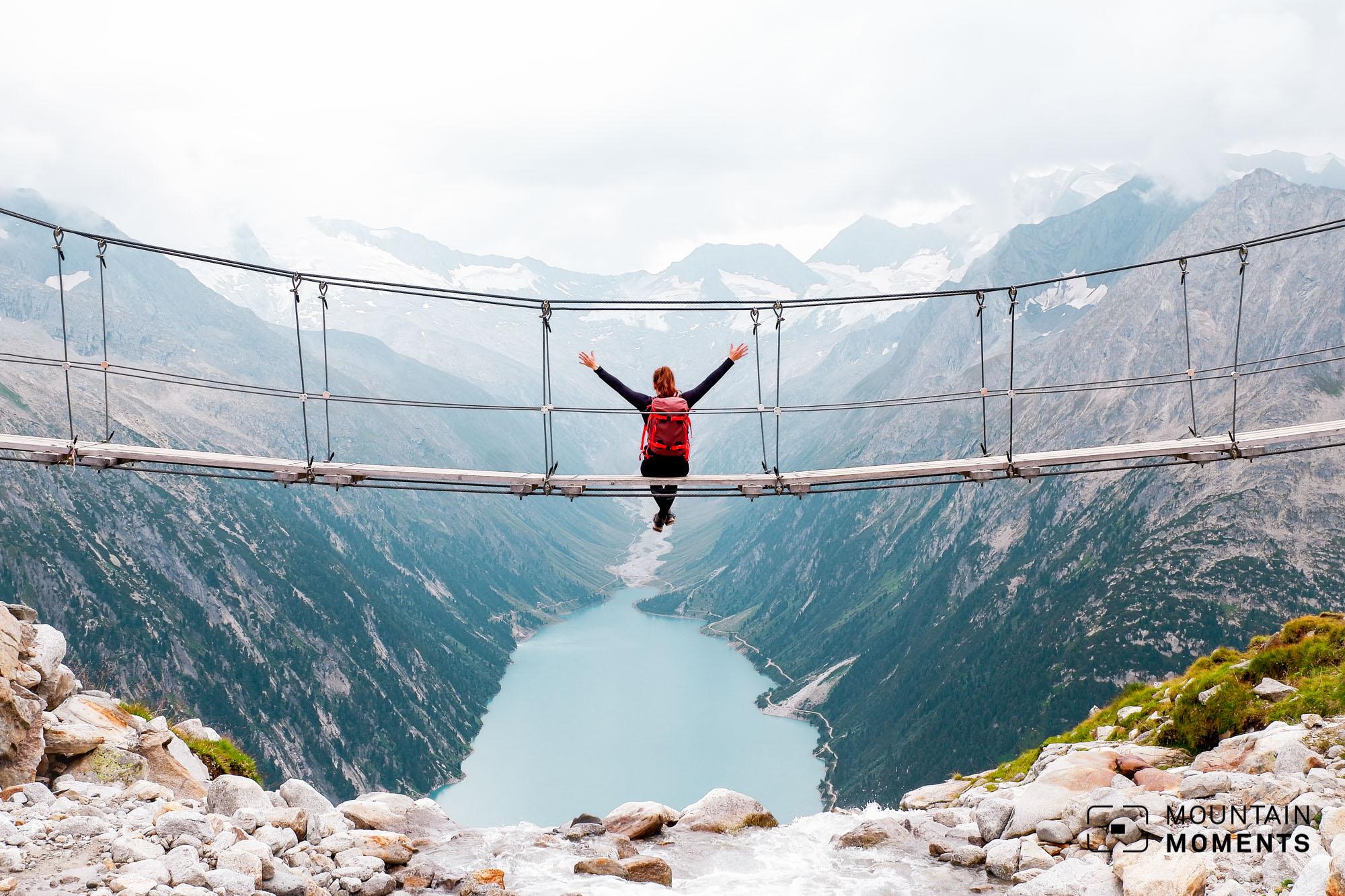 hängebrücke zillertal, fotospot zillertal, bergmomente zillertal, foto location zillertal