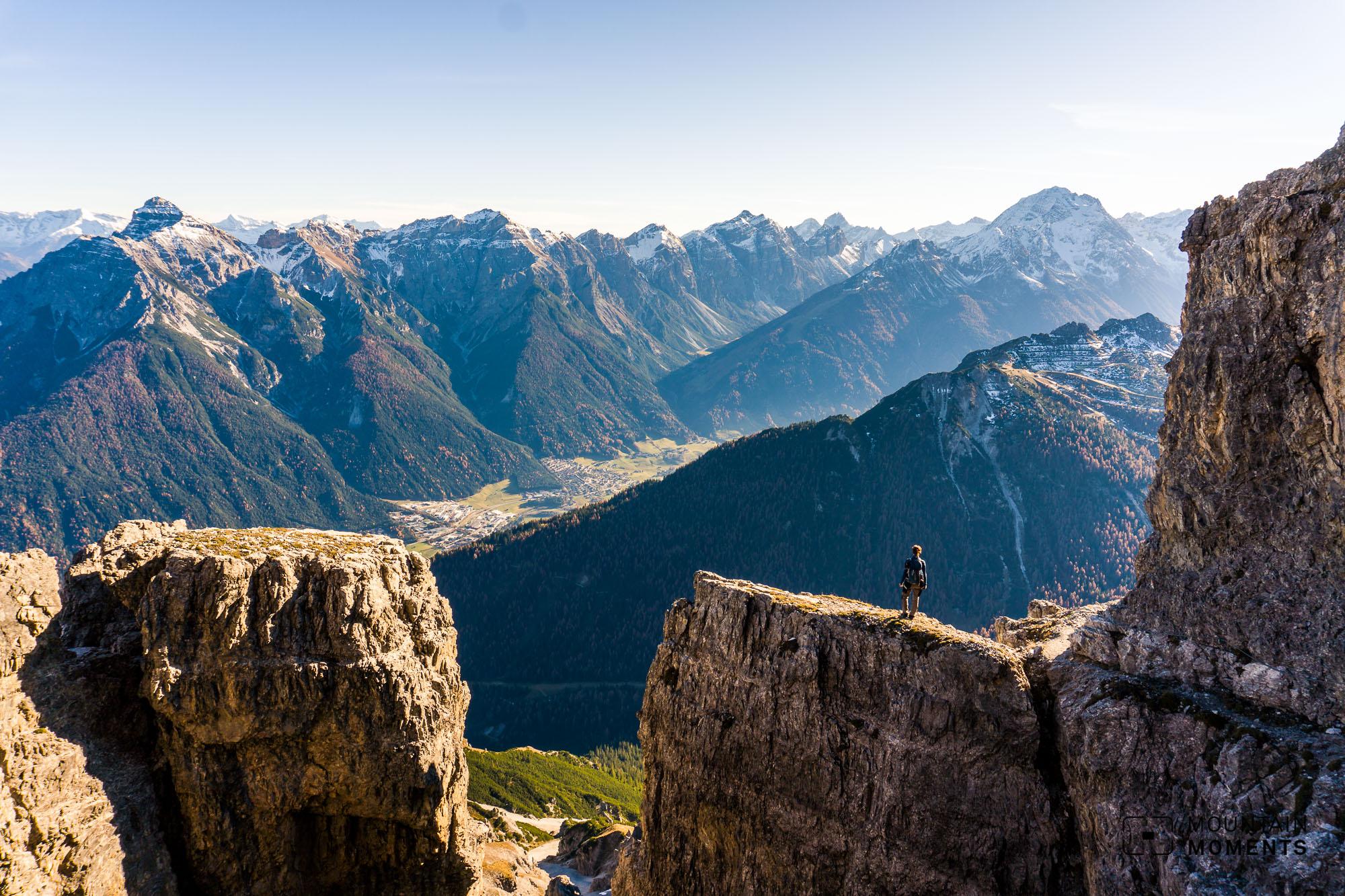 kalkkögel, ampferstein, axamer lizum, klettersteig, lustige bergler steig