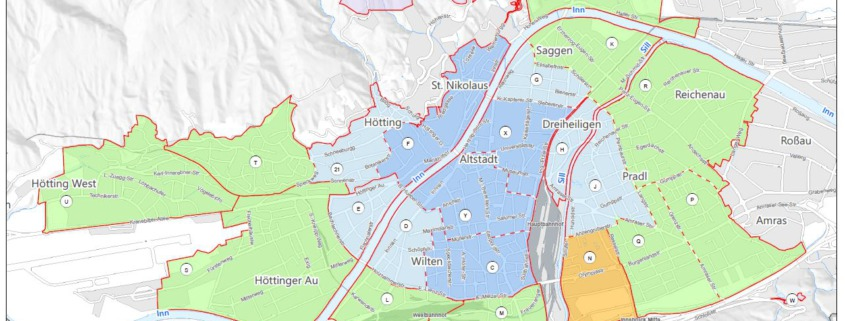 Parkzonen Innsbruck 2021