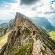 dolomiten, wandern, wanderer, schlern, catinaccio, sciliar, via ferrata, hiker, wanderer, wandergruppe, landschaftsbild